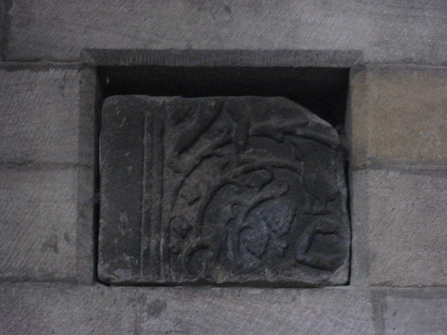 Roman stone in niche 8 on the north wall of the Aisle, Hexham Abbey