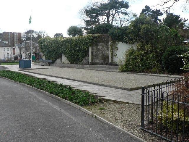 Bournemouth: Knyveton Gardens petanque area