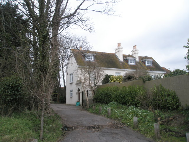 Beach Cottage at the sea end of Hospital Lane, Portchester