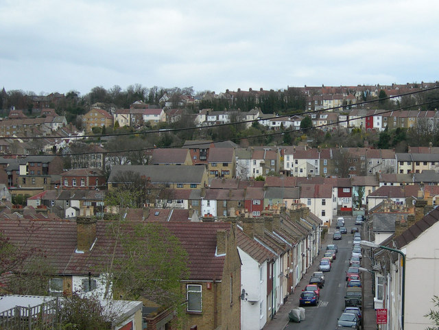 Grove Road, Chatham and view beyond.