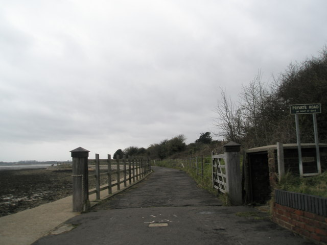 Coastal path near Portchester Castle