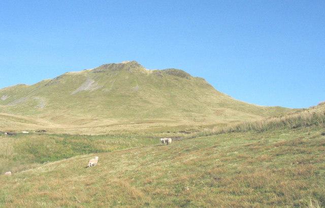 Moel Penamnen from the upper Barlwyd valley