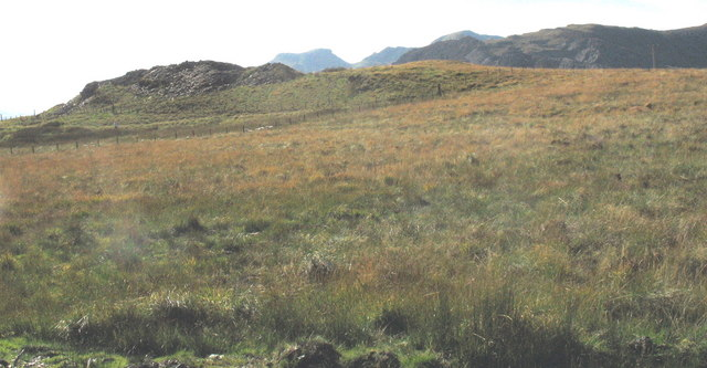 View across the moorland with the Moelwyn hills in the background