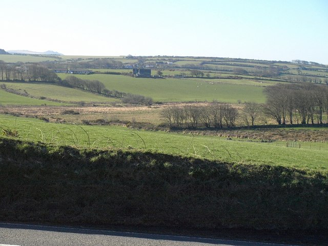 Towards the Inny valley from the A395