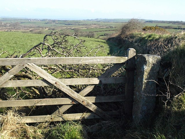 Gate beside the A395