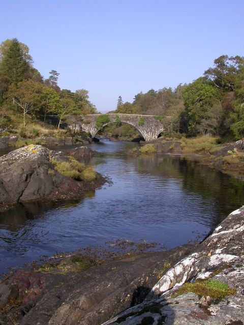 Bridge over River Aline from Seapool