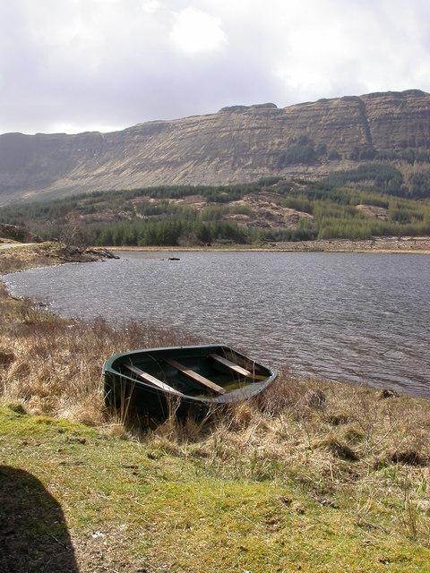 Flooded boat, Loch Doire nam Mart