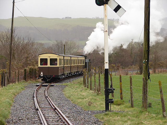 Vale of Rheidol Railway train at Rhiwarthen