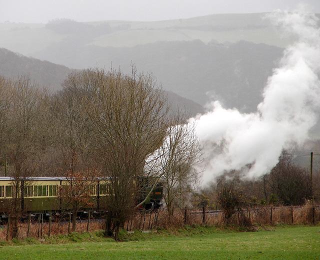 Vale of Rheidol Railway train at Rhiwarthen