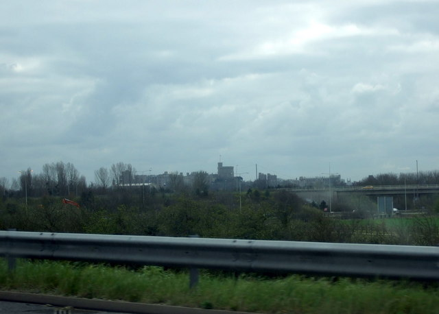 M4 view of Windsor Castle