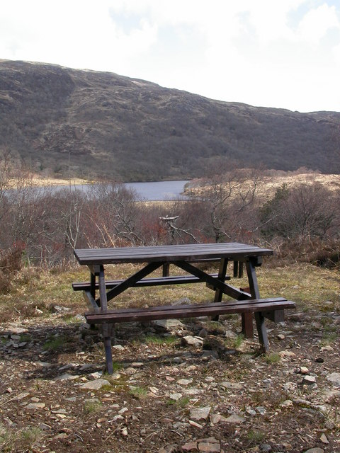 Loch Arienas from Picnic Table