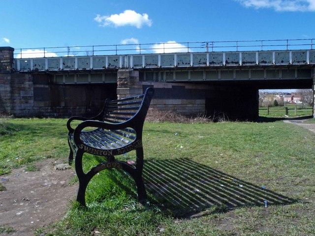 Commemorative bench 'Swinton Bridge 2002'