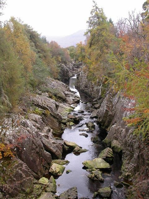 River spean from Inverlair Bridge