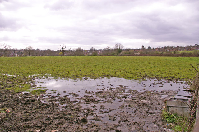 Farmland, Enfield Road, Enfield, looking west