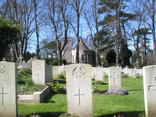 Military graves within Christ Church, Widley