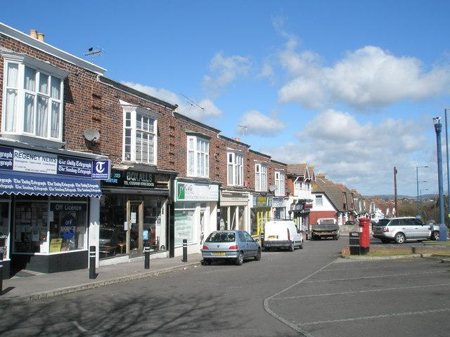 Shops near Lansdowne Avenue, Widley