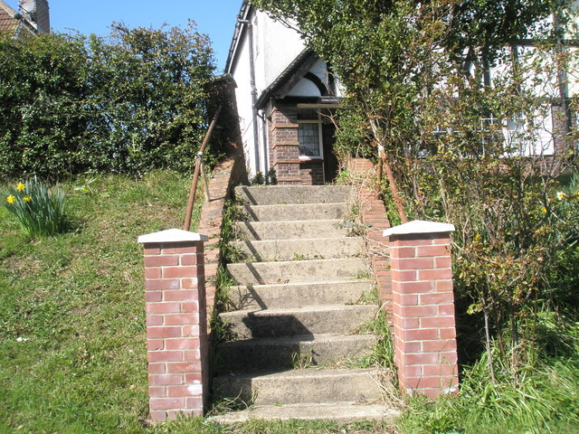 Attractive steps to house at London Road, Widley