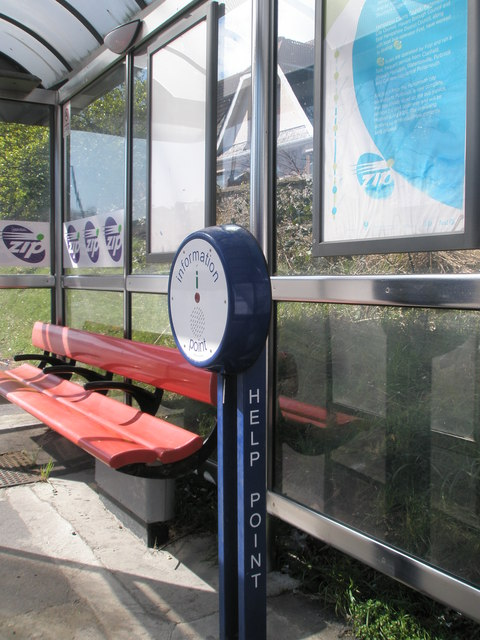 New information point in bus stop between Widley and Purbrook