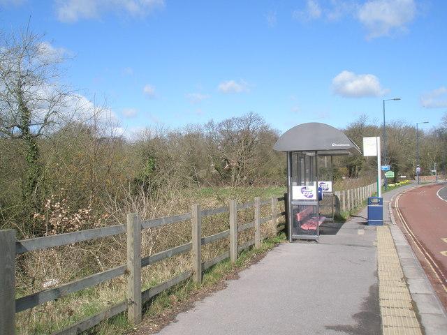 Bus stop by Purbrook Heath Farm