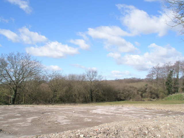 View from old A3 across Purbrook Heath Farm