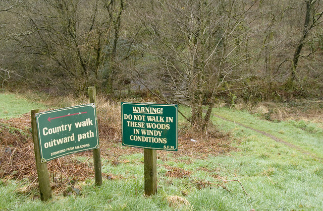 Advisory notices, Stowford Farm Holiday Site