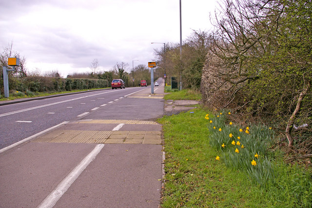 Enfield Road Cycle Track, Enfield, looking west