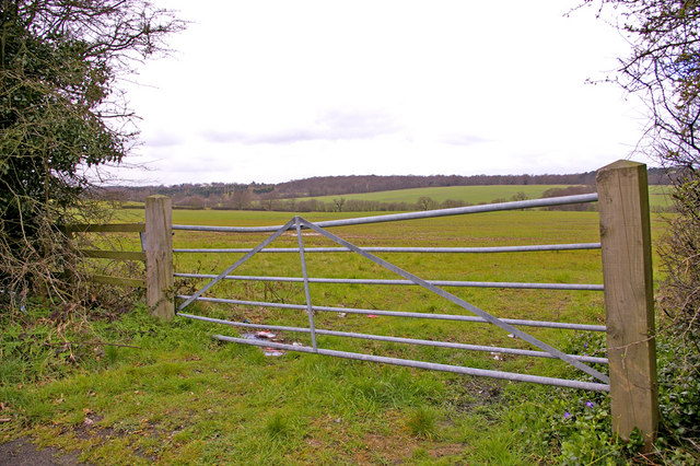 Gate to Farmland on north side of Enfield Road, Enfield