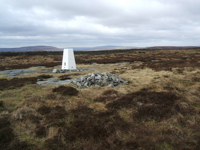 O.S. trig point on Old Cote Moor