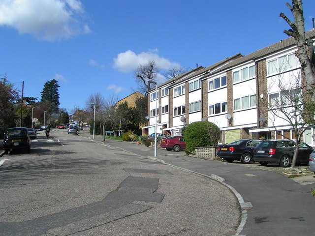 Early 1970's townhouses in Dunoon Road