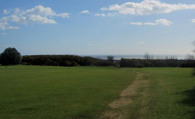 Footpath across Blatchington Golf Course, Seaford