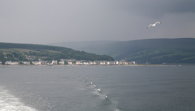 Leaving Rothesay Bay with view of Ardbeg