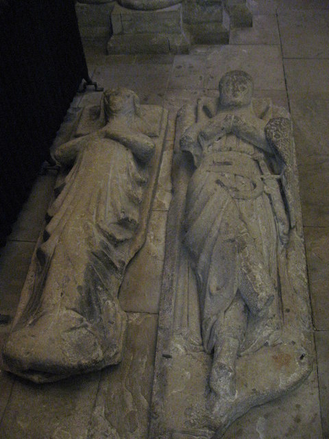 14th C Monuments, South Choir Aisle, Hexham Abbey