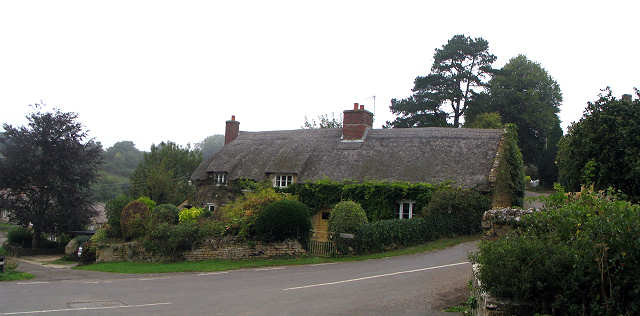 Thatch Cottages at Powestock, Dorset