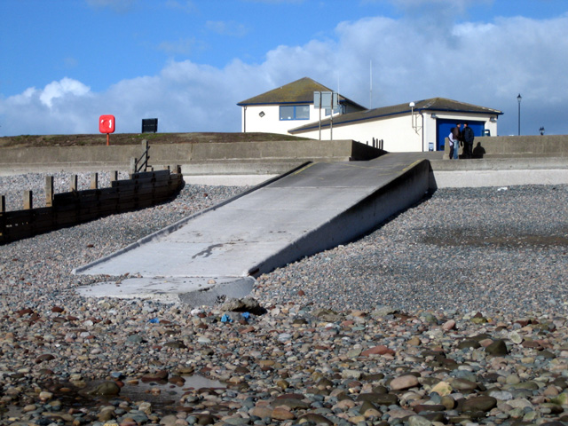 St Bees seafront: slipway and lifeboat station