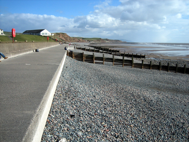 St Bees Promenade, Tea Room and low cliffs