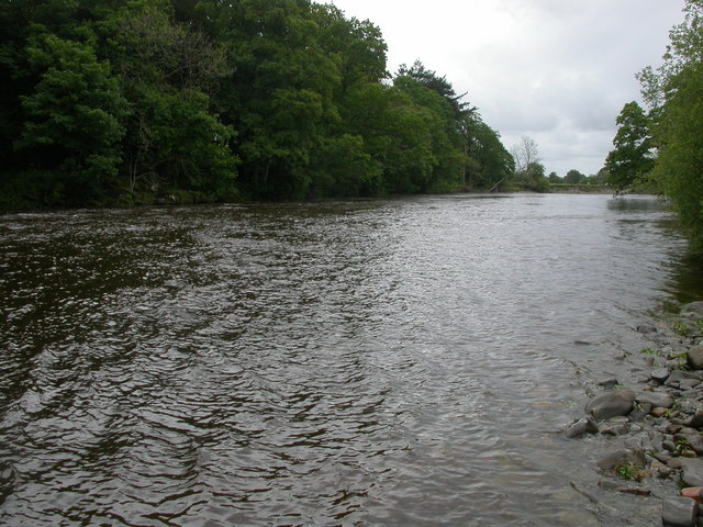 River Lune behind the Swan Public House