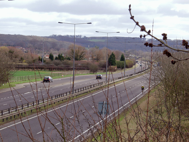 The A63 near South Cave