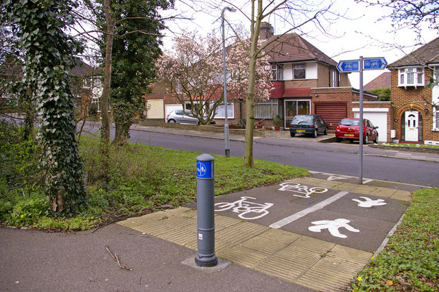 Cycle Track, Slades Hill, Enfield