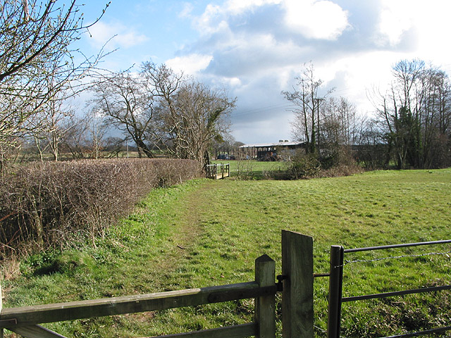 Footpath crosses Kempley Brook