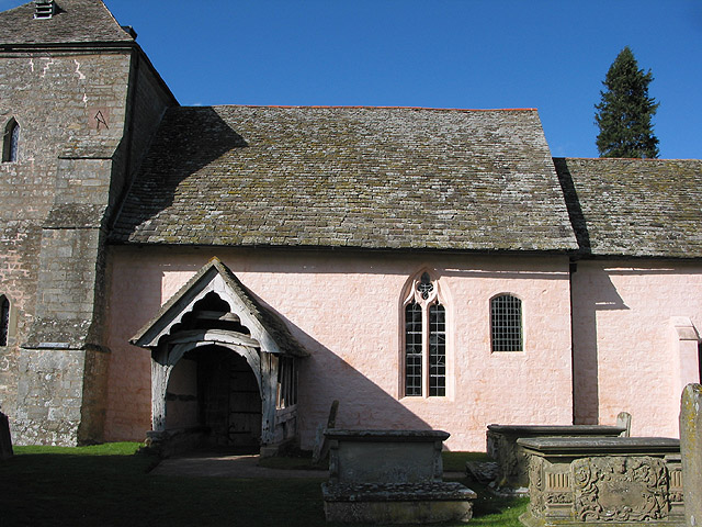 Nave and porch, St. Mary's Church, Kempley