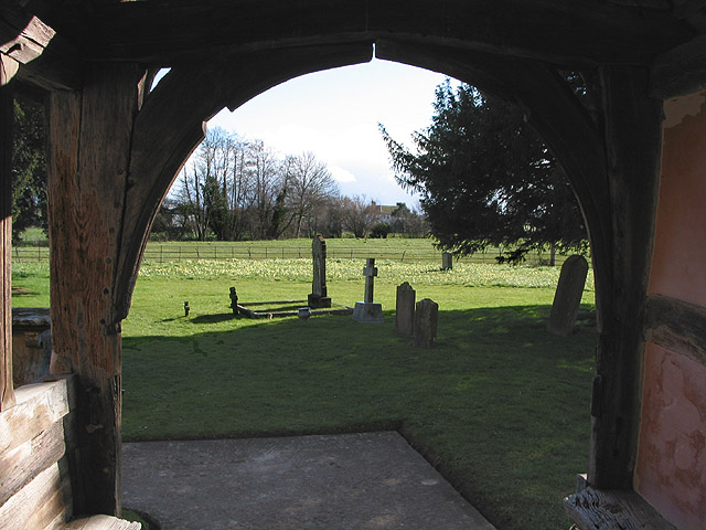 View across the churchyard from the porch of St. Mary's