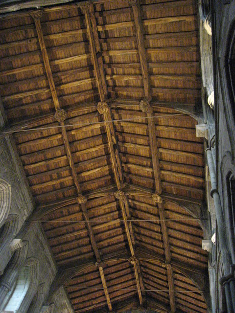The roof of the South Transept, Hexham Abbey