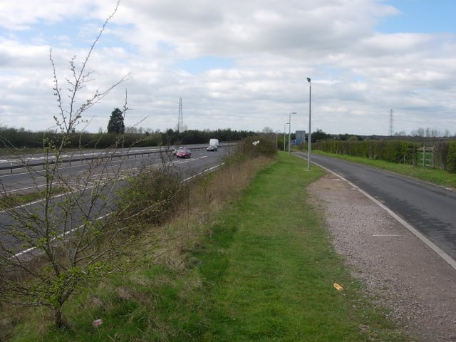 Cycle route and A14