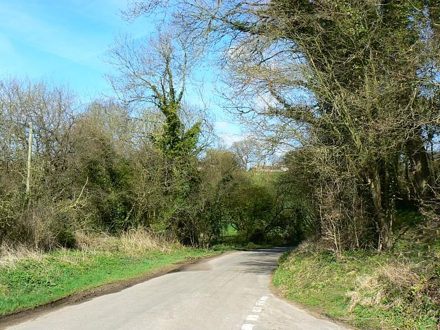 Portsway Lane from Saite Lane, south of Batcombe