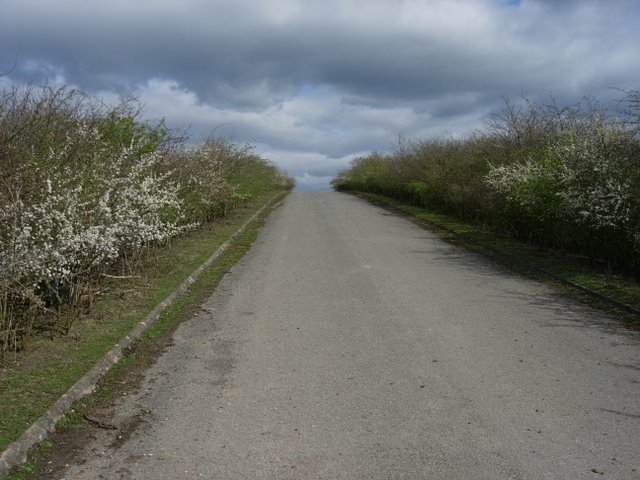 Byway crossing the A14