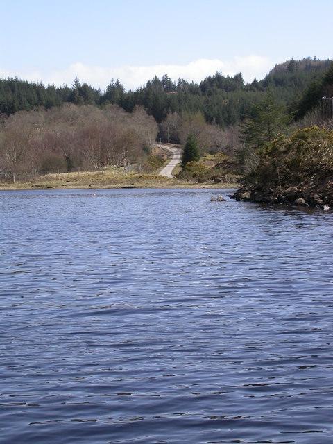 Loch Arienas and road