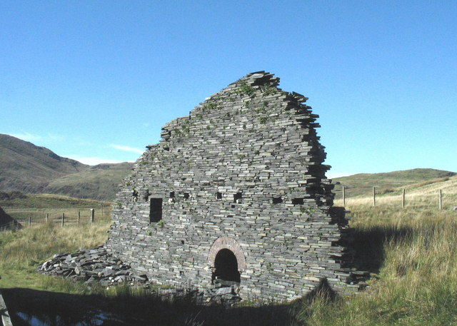 Ruined northern section of the Llechwedd electric  generating plant