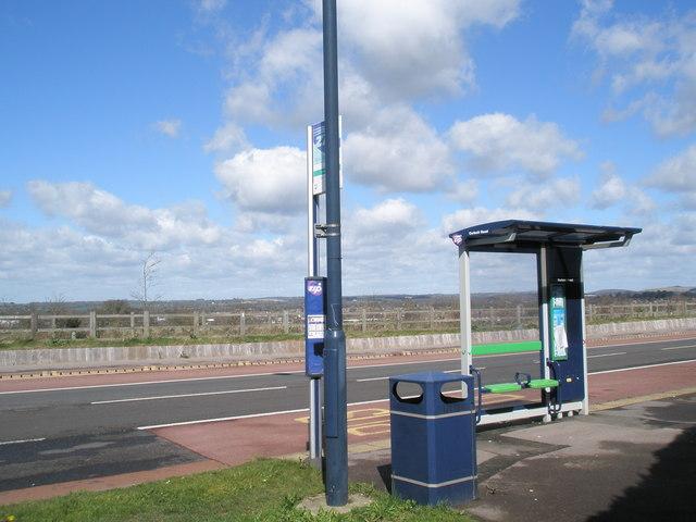 Interesting super-slim bus shelter