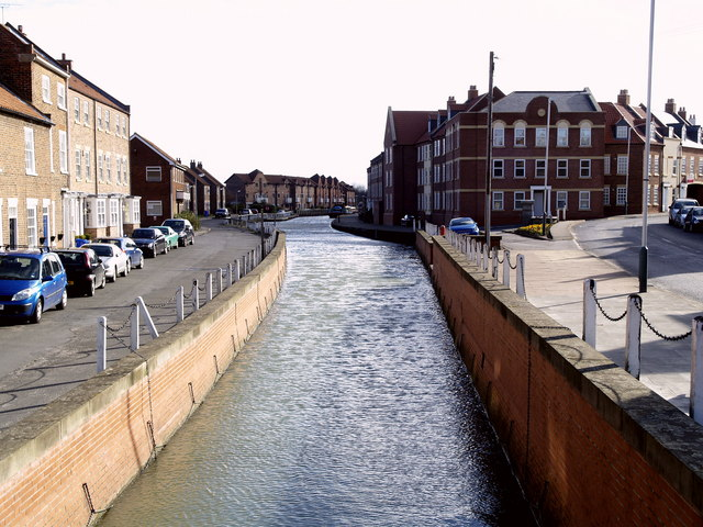 The view from the end of Beverley Beck