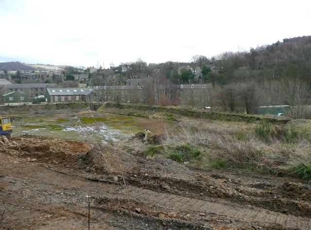 Former millpond, Huddersfield Road, Netherthong